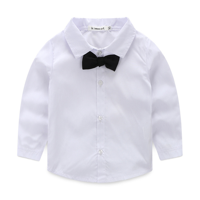 Baby Boy's Cotton Long Sleeve Shirt with Tie, Blazer and Pants Set
