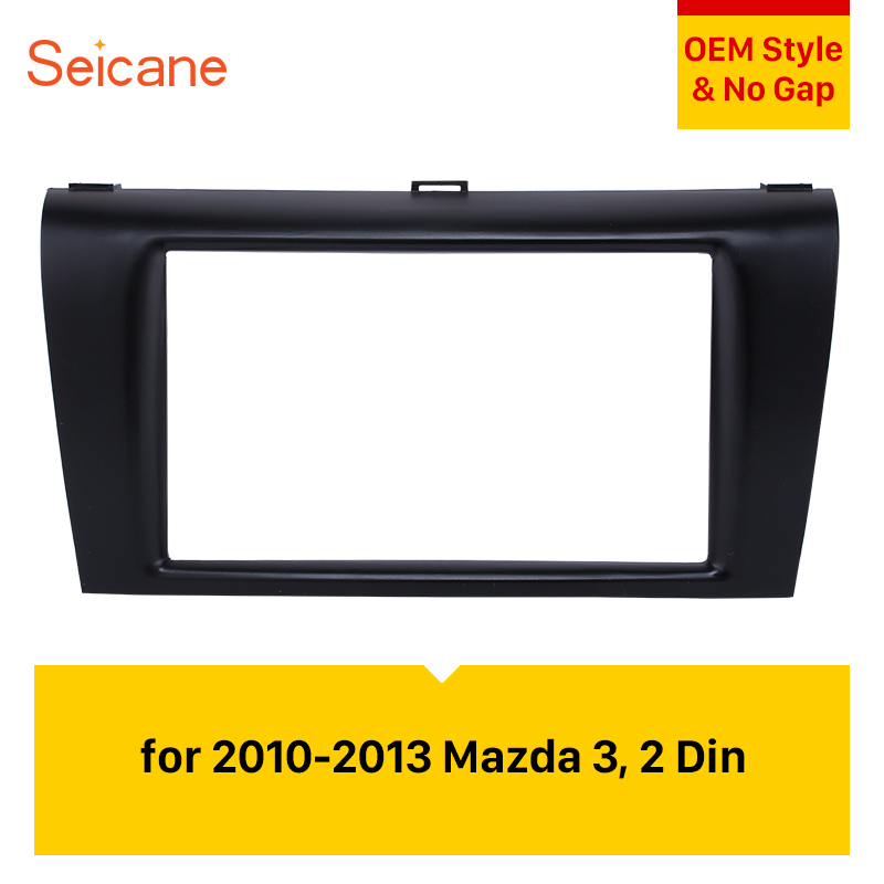 Seicane Double Din Car <font><b>Radio</b></font> Fascia 173*98MM Dash Panel Stereo Install Trim Face Plate Frame For 2010 2011 2012 <font><b>2013</b></font> <font><b>Mazda</b></font> <font><b>3</b></font> image