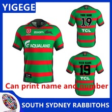 886649492f8 YIGEGE 2019 NRL RUGBY JERSEY SOUTH SYDNEY RABBITOHS 2019 HOME JERSEY  Australia NRL National Rugby League