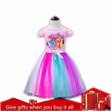 Malayu Baby 2019 Summer Baby Girl Clothes Princess Dress Up Cartoon Pony Short Sleeve Cotton Ballet