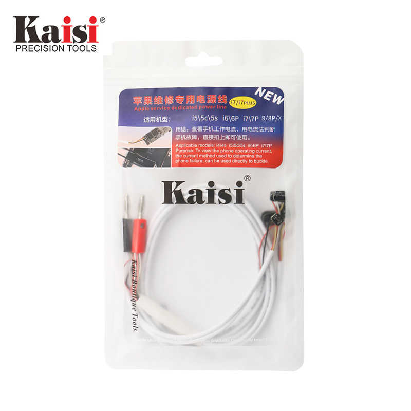 Kaisi, herramientas de reparación de cables de prueba, fuente de alimentación DC Original, Cable de prueba de corriente de teléfono para Apple iPhoneX 8plus 7 7plus 6 6plus 5S 5c