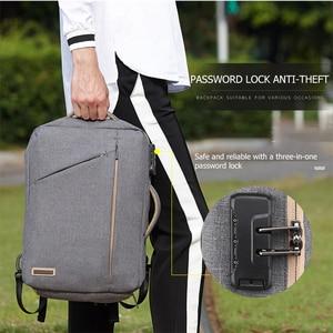 Image 5 - Scione erkekler katı iş dizüstü sırt çantası gizle omuz askısı çanta erkekler kadınlar için öğrenci şifreli kilit eğlence okul sırt çantası