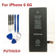 734047fbb0f 100% nuevo para iphone 6 de 1810 mah de la batería original batería de repuesto  para Apple iphone 6 6G IP6G + herramientas de re.