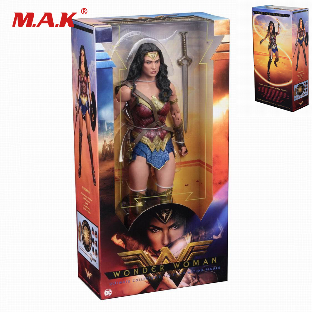 1/4 Full Set Action Figure Wonder Woman PVC 18'' Action Figure Model Toys for Fans Collection Gift for collection full set action figure model fs 73005 1 6 us us delta special forces 1st sfod d figure model toys for fans gift