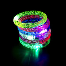 Fashion Concert Light Bracelet LED Colorful Acrylic Transparent Bubble Thread Bracelet Bar KTV Promotional Props(China)