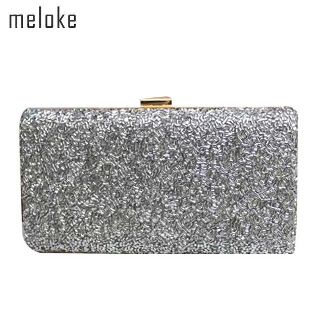 636ea4e1e Meloke 2019 mujeres hecho a mano brillante cuentas embrague marca cuentas  cena embrague carteras de moda