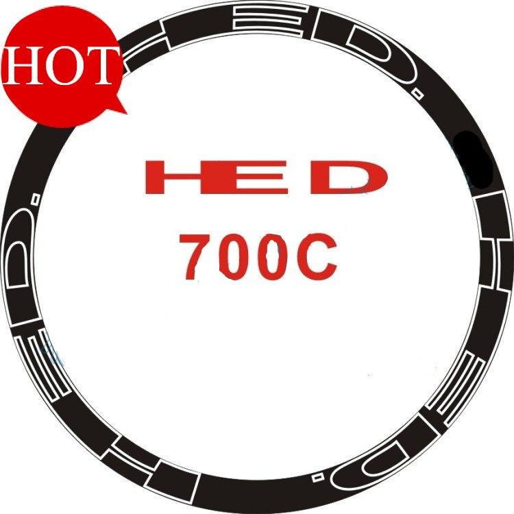 Nueva 700c Bicicletas llantas pegatina llanta 30/40/50/60/70/88mm Decal bicicleta de carretera de ruedas pegatinas rueda de engranaje fijo Accesorios
