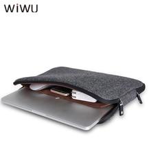 Computer Office - Laptop Accessories - WIWU New Fashion Laptop Sleeve Man Women Bags Wool Felt  Notebook Bag 11 12 13 15 For Macbook Pro Air Coffee Black Bags Hotsell