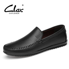 CLAX Mens Boat Shoe Genuine Leather 2019 Summer Male Loafers Casual Shoes Man Moccasin Breathable
