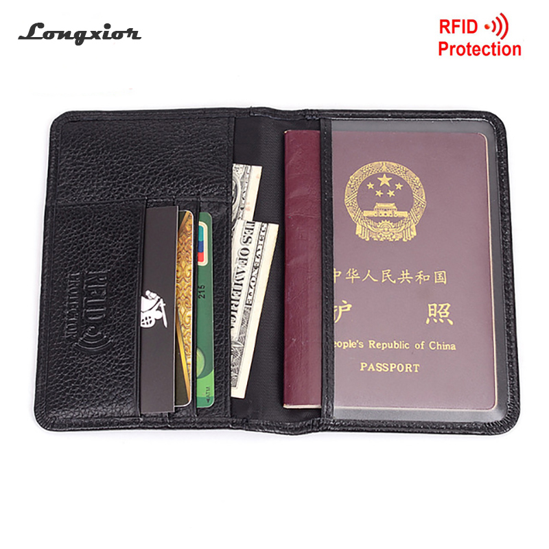 Los Angeles Kings Leather Passport Holder Cover Wallet ID Cards Document