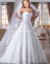 Princess Sweetheart Low Back Wedding Dresses 2016 Spring White Bridal Gowns Vestidos de Novia Custom Made