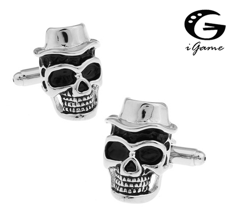 IGame Skull Cufflinks Fashion Cap Skeleton Design Quality Brass Material Free Shipping