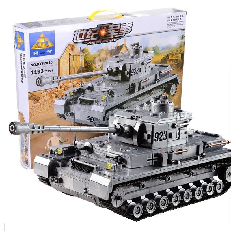 KAZI Building Blocks 82010 Armored Tanks Compatible font b Legoe b font Panzer IV F2 Type