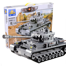 KAZI Building Blocks 82010 Armored Tanks Compatible Legoe Panzer IV F2 Type Fight Inserted Blocks