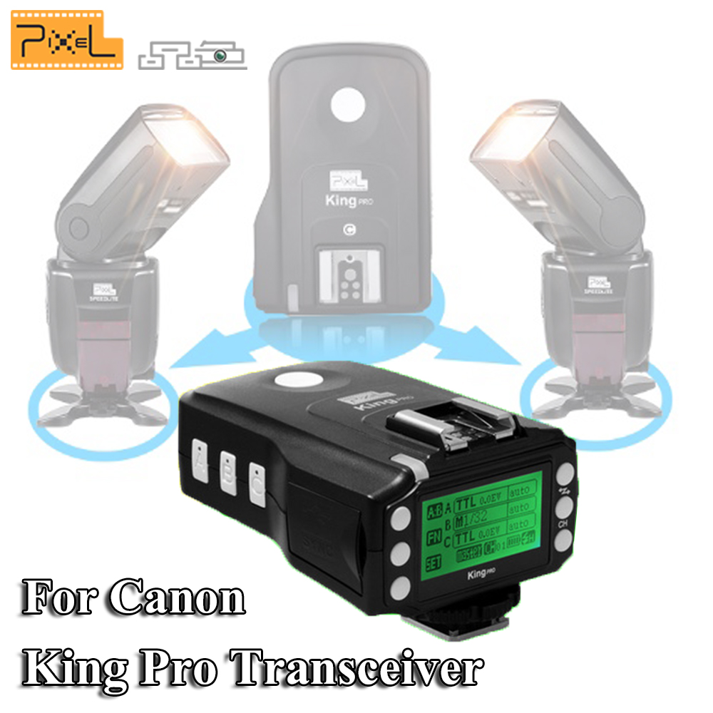 Pixel King Pro Transceiver Flash Speedlite TTL High Speed Wireless Flash Trigger Remote Control For Canon Eos Digital SLR Camera