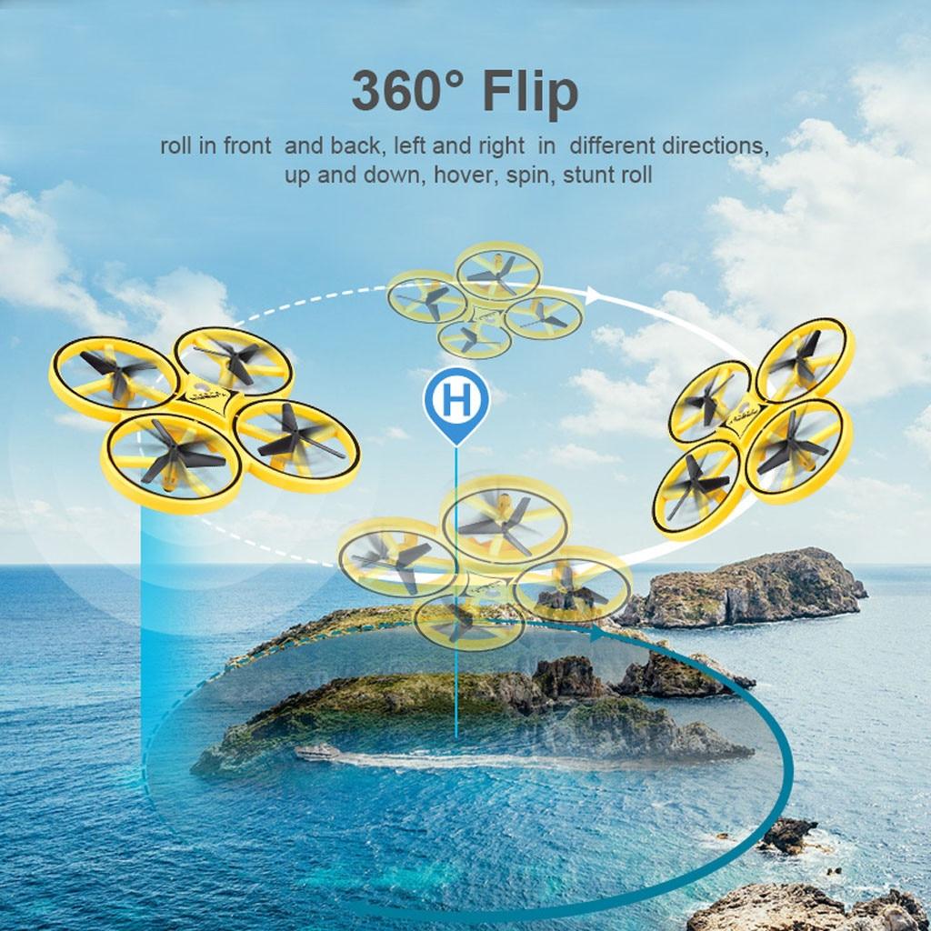Zdalnie sterowany dron Quadcopter podczerwieni indukcyjne sterowanie ręczne 2.4G czujnik grawitacji zdalnie sterowany dron helikopter z kamerą HD 1080P WIFI
