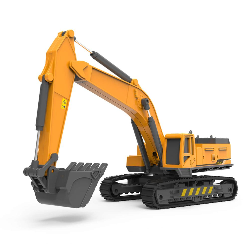 Excavator Toy Model 1:55 Diecast Engineering Children Toys Vehicles Hydraulic Digger Truck Toy Tractor Car Models Toys For Boys