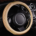 Free SHIPPING 3D Breathable Non-slip Leather Fabric Car Steering Wheel Cover lzh