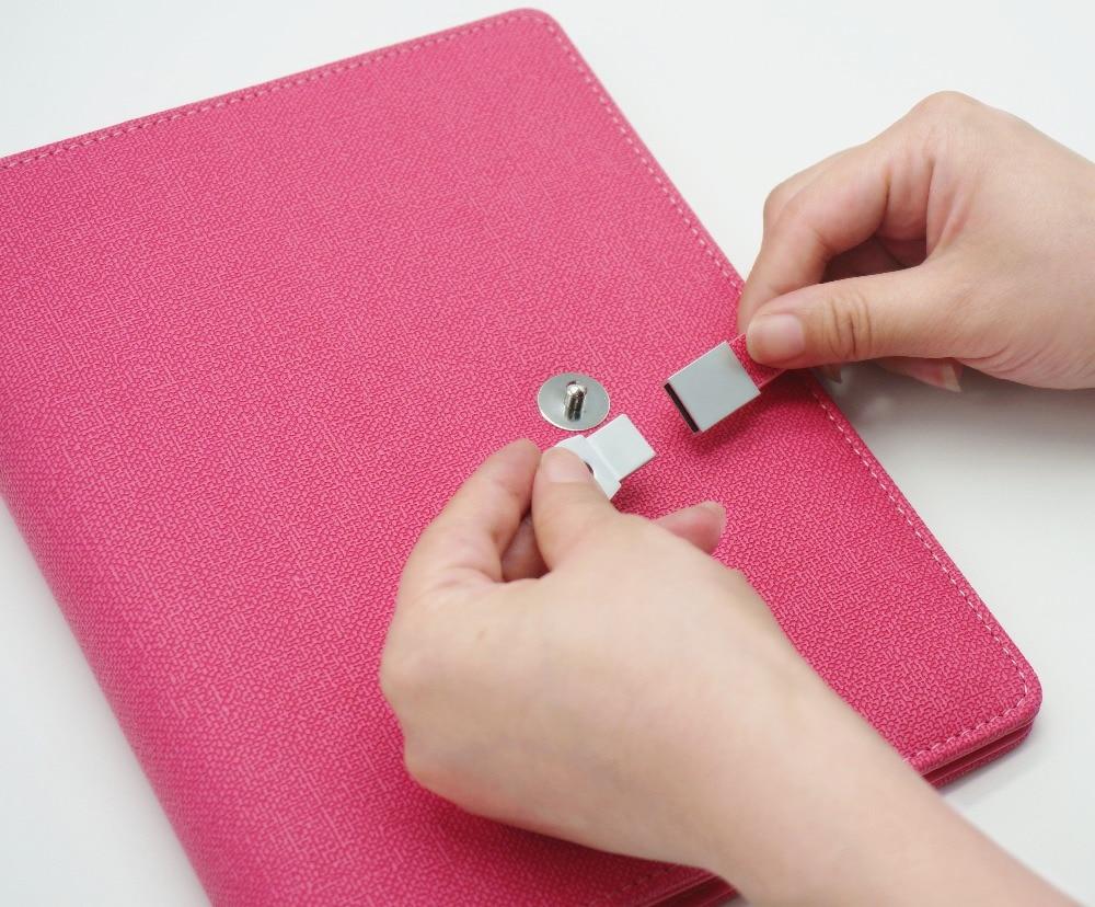 Refillerable Planner קלסר עם 8GB כונן פלאש ספירלה מחברת USB דיסק Loose Leaf Notepad A5 בינדר מתכנן