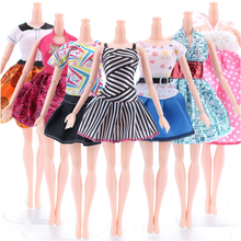 5Pcs/lot Clothes for Dolls Accessories Skirts DIY Mixed Party Dress Toys Girls Gift
