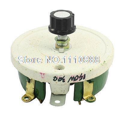 Wirewound Linear Rotary Resistor 150W 300 Ohm Ceramic Disk Rheostat 50w 1k ohm ceramic wirewound potentiometer volume control disk rheostat