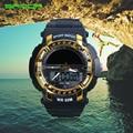 Male Fashion Sport Military Wristwatches 2016 New SANDA Watches Men Luxury Brand 3ATM 30m Dive LED Digital Analog Quartz Watches