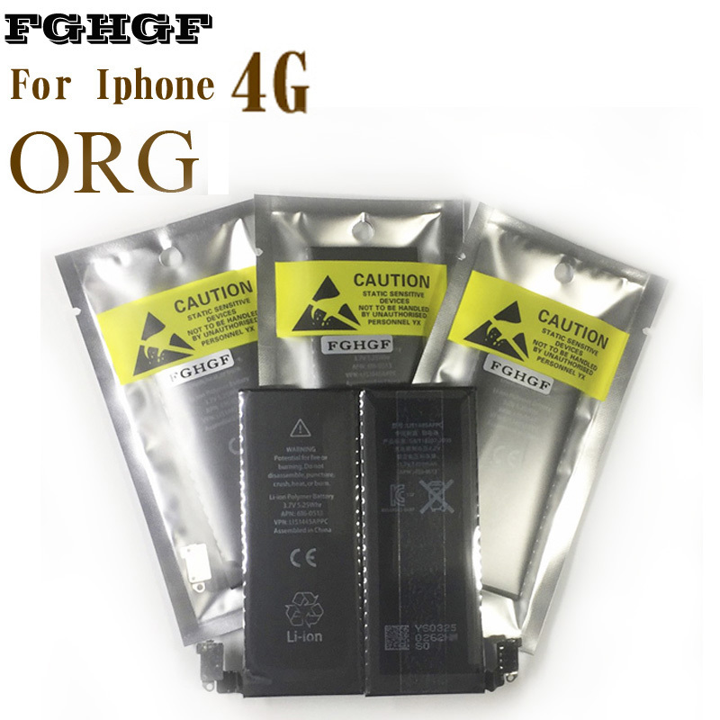 FGHGF Phone Battery 10pcs/lot For Iphone 4 4G Wholesale 1420mah 0 Cycle Made by Orig Org protection Board And high-qlty Cell