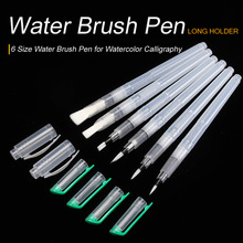 Bianyo 6PCS Portable Paint Brush Water Color Brush Pencil Soft Watercolor Brush Pen for Beginner Painting Drawing Art Supplies