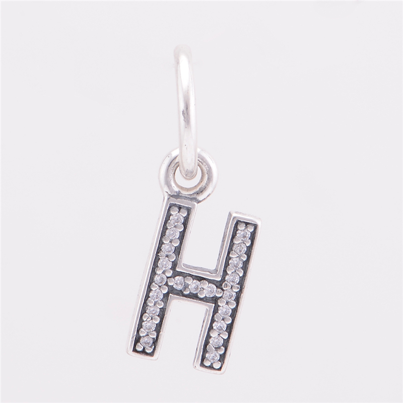 Silver Letter H: Authentic 925 Sterling Silver Letter H Dangle Charms