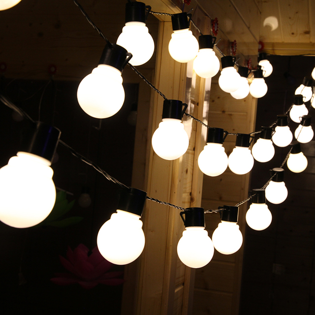 5m 20 leds globe bulbs light strings romantic ball warm white