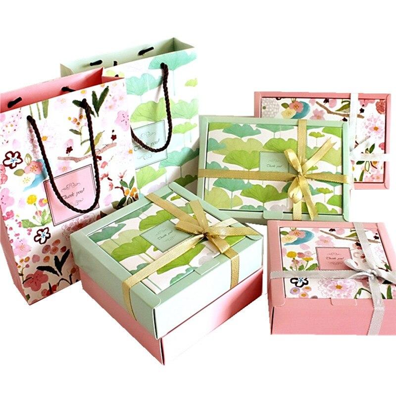 20 pièces usine papier chocolat gâteau boîte partie cadeau emballage Cookie bonbons noix boîte bricolage mariage cadeau emballage boîte ou cadeau sacs