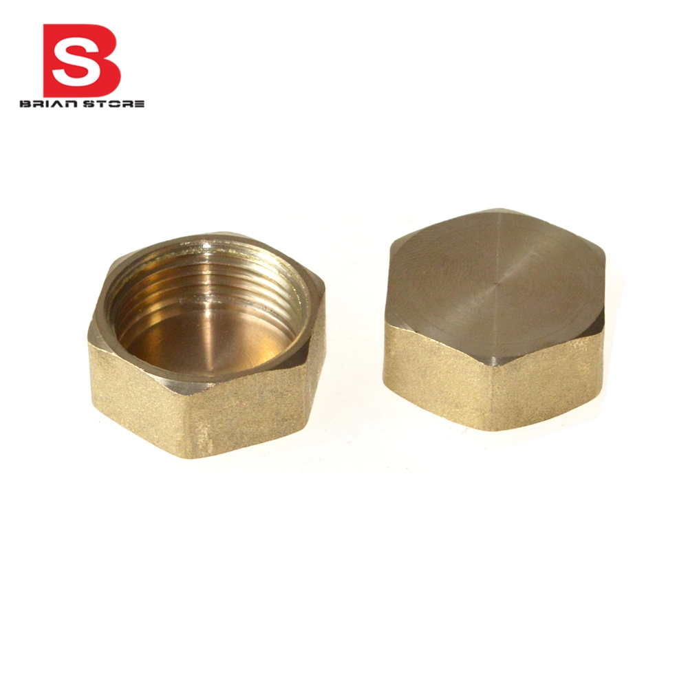 Female Inch BSP Hexagon Plug Length 15mm Connection Thicken 4mm Brass Pipe Adapter Coupler Connector 232psi +BFP