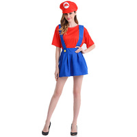 New Arrival Game Play Super Mario Cosplay Disfraces Halloween Costume COS Dress Fantasy Exotic Clothes Hot