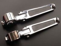 Freeshipping Chrome 1 1 1 4 CRASH BAR ENGINE GUARD HIGHWAY PEG PEGS FOOTPEGS For HARLEY
