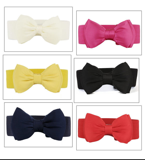 2017 New Arrival  Women Bowknot Stretch Elastic Bow
