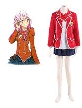 Envío Libre Guilty Crown Yuzuriha Inori Tennouzu High School Girl Uniform Cosplay del Anime