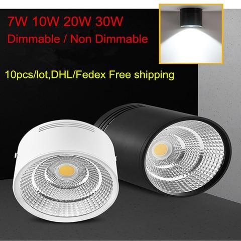 7 w 10 w 20 w 30 w novo design moderno cob led downlights superficie