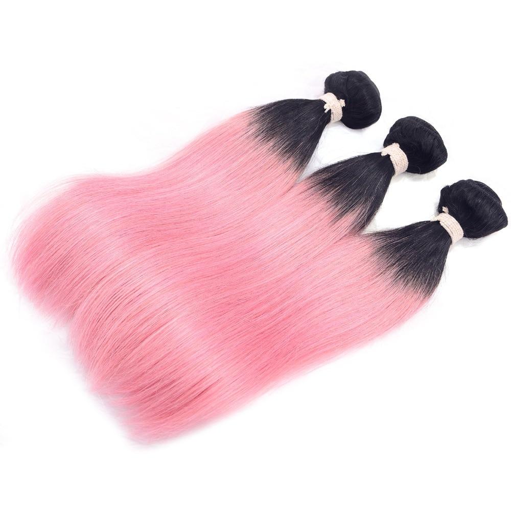 3 Bundles Brazilian Pink Cheap Bundle Deals Mink Straight Unprocessed Human Hair Coloured Bundles 2 Tone  Chocolate Hair