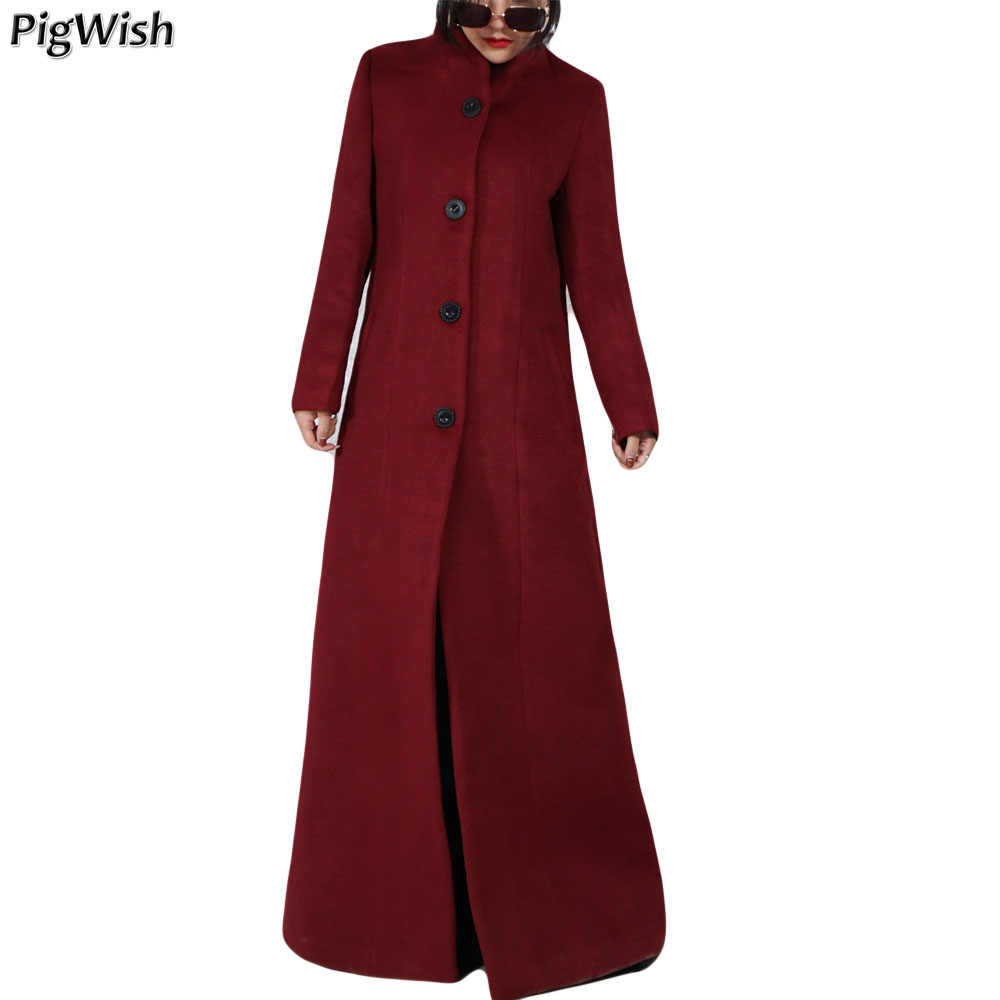 18ee7840a0815 2019 Winter Islamic Coat Abaya Women Vintage Kaban Muslimische Long Coat  Manteau Femme Hiver Warm Wool