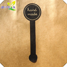 """Pudding bottle push music """"hand made"""" seal paste biscuit bag West Point cake box package label sticker"""