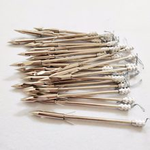 10/20 pçs aço inoxidável broadheads estilingue arco de flecha peixe estilingue seta cabeça tiro catapulta dardo caça dicas