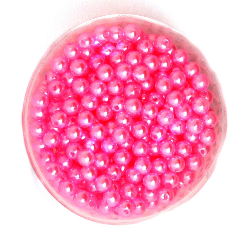 Круглый около 1000 шт./лот розовый цвет 6 мм Диаметр. Имитация жемчуга Пластик Бусины оптовая для изготовления ювелирных изделий cn-bsg01-02pk