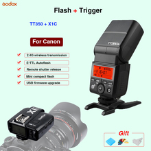 Godox TT350C TTL Mini flash Speedlite & X1C Flash Trigger controller For Canon 70D 700D 60D 5D 5DIII 1DX 1DX21