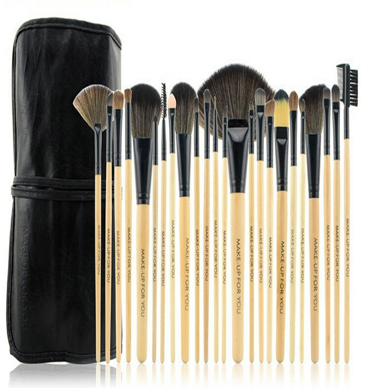 24Pcs Cosmetic Makeup Brushes Set Bulsh Powder Foundation Eyeshadow Eyeliner Lip Make up Brush Beauty Tools Maquiagem 1 4pcs cosmetic makeup brushes set eyebrow eyeliner eyelashes lip makeup brush kits eyeshadow blush brushes pinceis de maquiagem