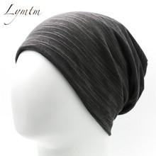 Lymtm  Unisex turbante Beanie Stocking sombreros para las mujeres hombres  Baggy Hip Hop sombrero Skullies Beanies bufanda másca. 49371f08d5a