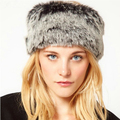 New Fashion Grey Color Faux Fur Winter Hat for Women Beanie Hat  Caps Winter Keep Warm Hollow Off For Ponytail Hair Gorros CP087