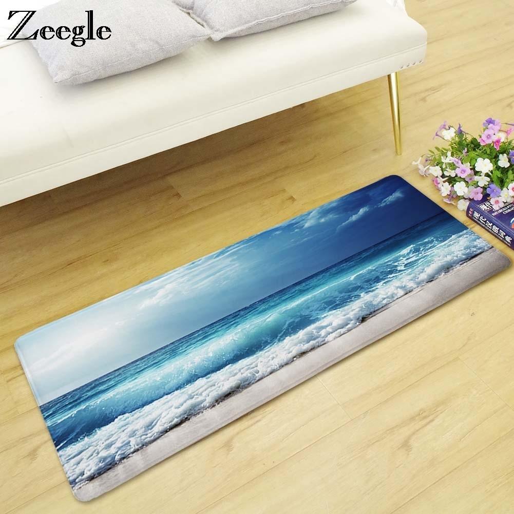 Zeegle Sea Beach Area Rug For Living Room Bedroom Carpets Bedside Rugs Anti-slip Carpets For Children Kitchen Mats Kids Rug
