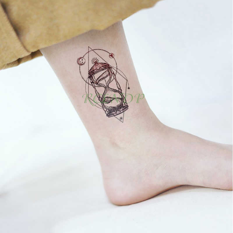fc27dbd35 Waterproof Temporary Tattoo Sticker Moon star Fake Tatto Small fresh Flash  Tatoo Tatouage Wrist Foot Hand