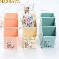 1pc multi-função de plástico pp caixa de armazenamento de desktop caso 4 grade sub-grade compõem cosméticos titular mesa caneta lápis organizador CL-2515