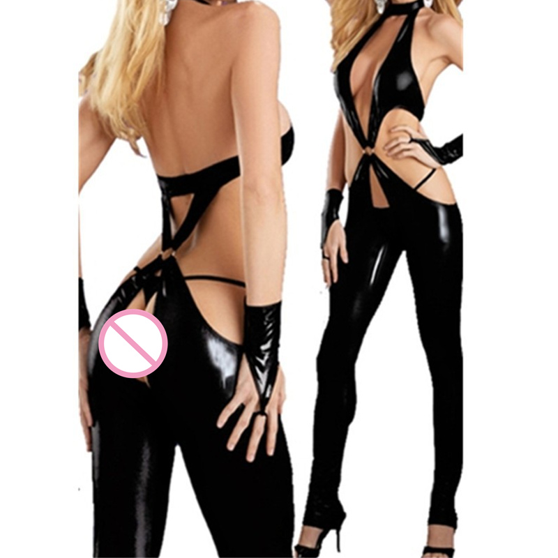 HTB13oPFAYGYBuNjy0Foq6AiBFXaA - Hot women sexy latex catsuit bodysuit plus size crotchless sexy Jumpsuit open hip stripper clothes pole dancing Costume